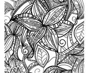 Coloriage et dessins gratuit Mandala Adulte en ligne à imprimer