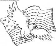 Coloriage Aigle d'Amérique