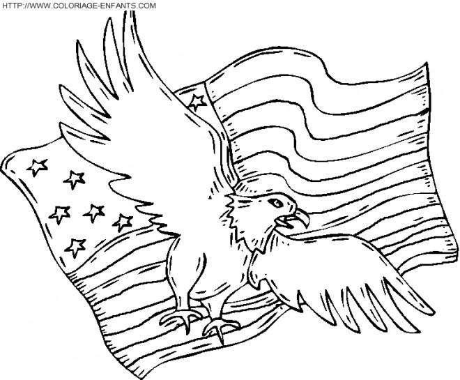 Coloriage et dessins gratuits Aigle d'Amérique à imprimer
