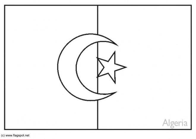 Vlag Australie Kleurplaat Coloriage Drapeau Alg 233 Rie Dessin Gratuit 224 Imprimer