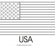 Coloriage Drapeau Américain