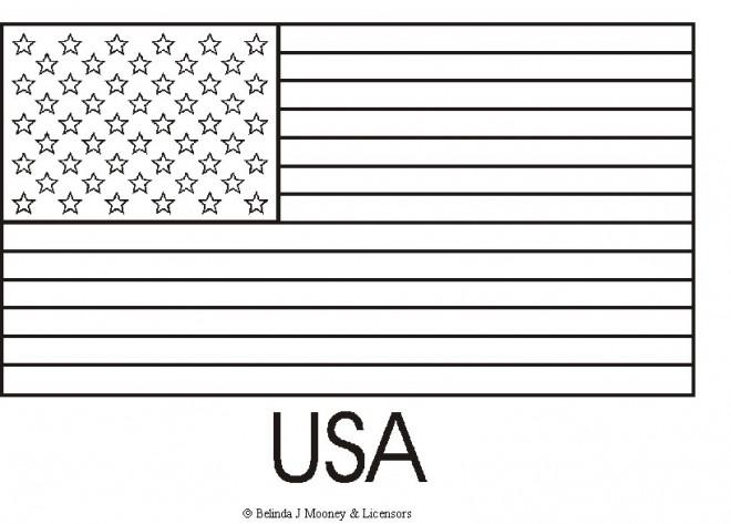 Coloriage et dessins gratuits Drapeau Américain à imprimer