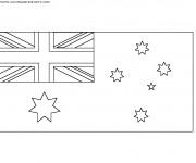 Coloriage Drapeau Australie