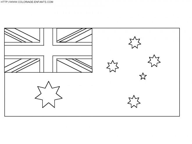 Coloriage drapeau australie dessin gratuit imprimer - Drapeau angleterre coloriage ...