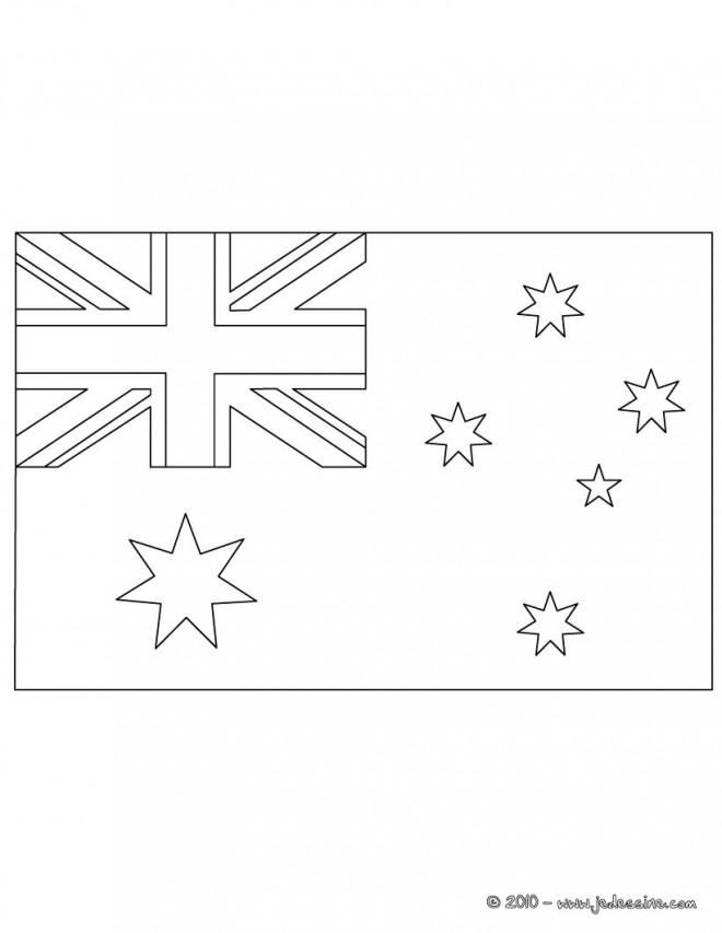 Coloriage et dessins gratuits Drapeau Australie simple à imprimer