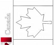 Coloriage Drapeau Canada