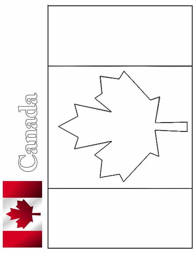 Coloriage drapeau canada dessin gratuit imprimer - Drapeau du maroc a imprimer ...