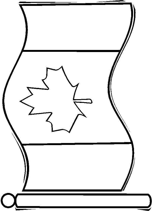 Coloriage et dessins gratuits Drapeau Canada couleur à imprimer