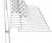Coloriage Drapeau États Unis