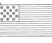 Coloriage Drapeau États-Unis maternelle