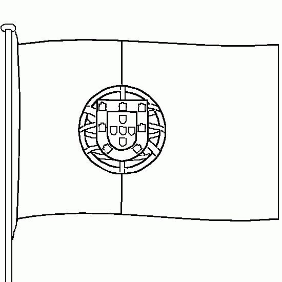 Coloriage drapeau portugal couleur dessin gratuit imprimer - Drapeau anglais a colorier et a imprimer ...