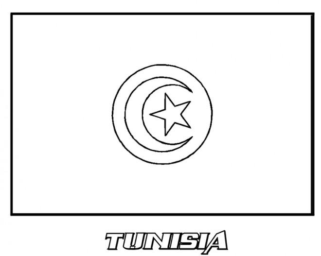 coloriage drapeau tunisie dessin gratuit  u00e0 imprimer