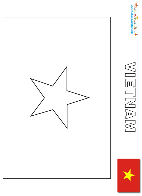 Coloriage drapeau vietnam dessin gratuit imprimer - Coloriage drapeau portugal ...