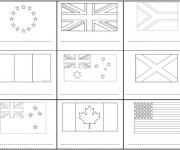 Coloriage et dessins gratuit Drapeaux monde entier à imprimer
