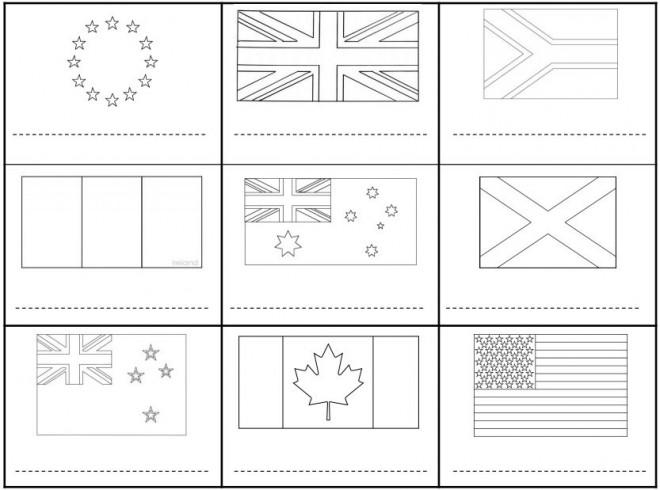 Coloriage drapeaux monde entier dessin gratuit imprimer - Dessiner le drapeau anglais ...