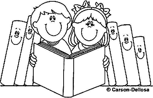Coloriage et dessins gratuits Amour de La Lecture à imprimer