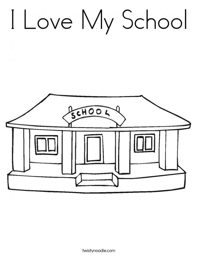 Coloriage et dessins gratuits Amour de mon École à imprimer