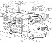Coloriage et dessins gratuit Autobus 2 à imprimer