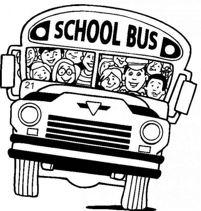 Coloriage et dessins gratuits Autobus scolaire plein de joie à imprimer