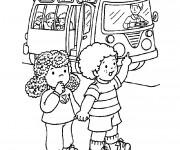 Coloriage et dessins gratuit Bus d'école Maternelle à imprimer