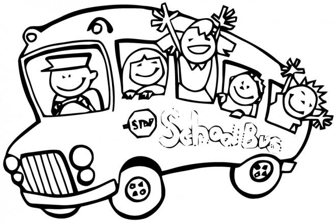 Coloriage et dessins gratuits Bus de l'Ecole à imprimer