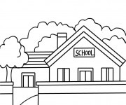 Coloriage et dessins gratuit Ecole 12 à imprimer