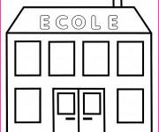Coloriage et dessins gratuit Ecole 2 à imprimer