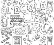 Coloriage et dessins gratuit Ecole 33 à imprimer