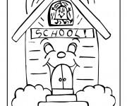 Coloriage et dessins gratuit Ecole 34 à imprimer