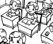 Coloriage et dessins gratuit Ecole 37 à imprimer