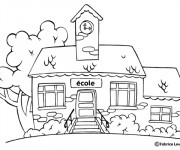 Coloriage et dessins gratuit Ecole 5 à imprimer