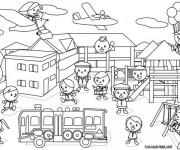 Coloriage et dessins gratuit Ecole 59 à imprimer