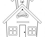Coloriage et dessins gratuit Ecole 61 à imprimer