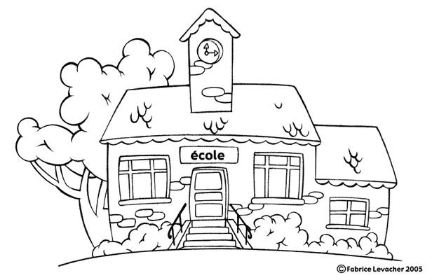 Coloriage et dessins gratuits École à colorier à imprimer