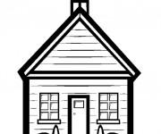 Coloriage École en vecteur