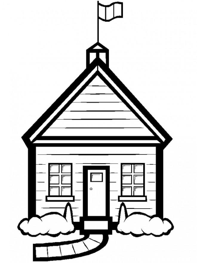 Coloriage et dessins gratuits École en vecteur à imprimer