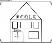Coloriage École facile