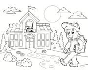 Coloriage et dessins gratuit École La rentrée scolaire à imprimer