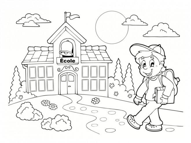 Coloriage et dessins gratuits École La rentrée scolaire à imprimer