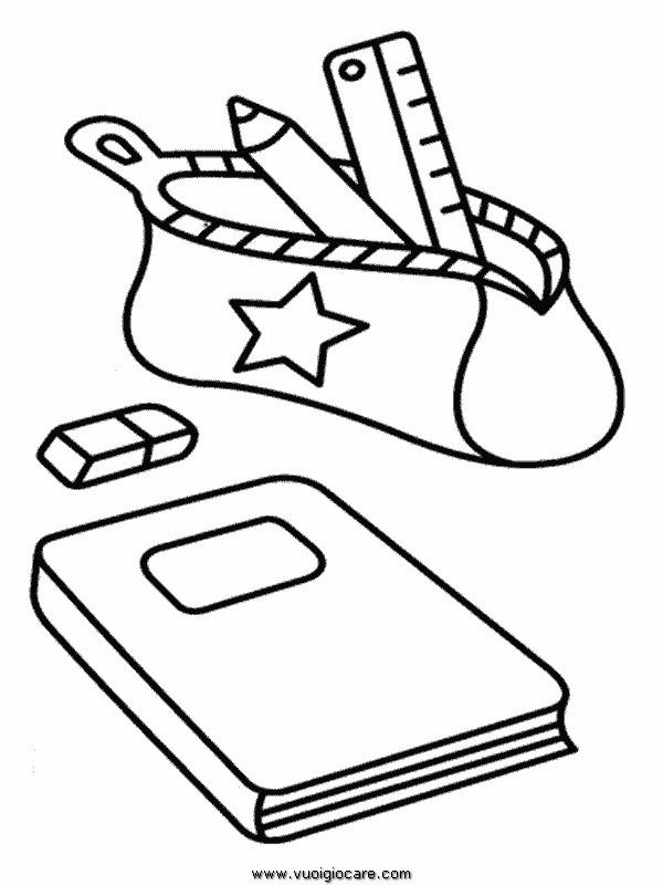 Coloriage cole la trousse dessin gratuit imprimer - Dessin de classe d ecole ...