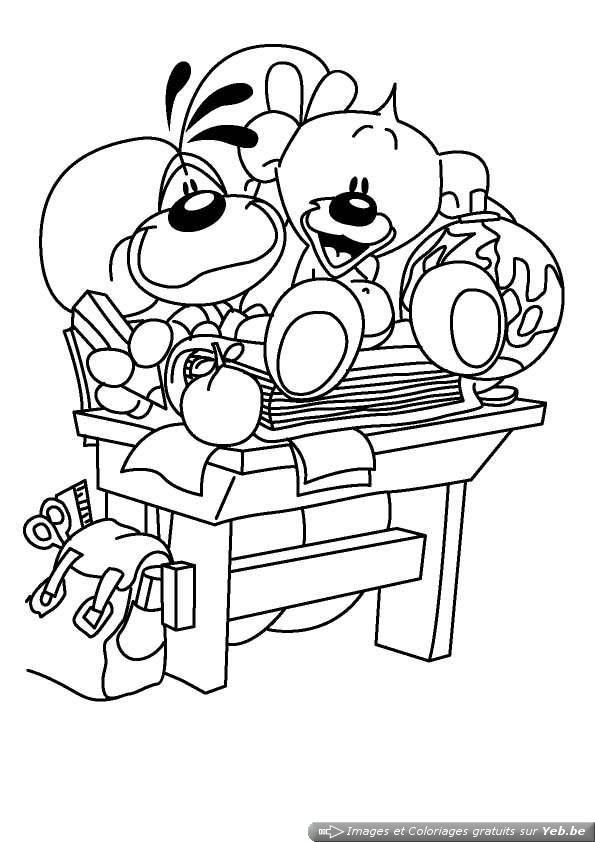 Coloriage et dessins gratuits École Les Élèves drôles à imprimer