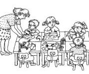 Coloriage École maternelle
