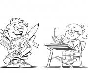 Coloriage École pour enfant