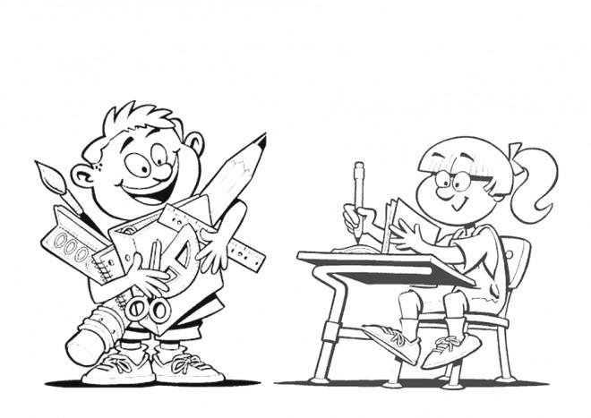 Coloriage et dessins gratuits École pour enfant à imprimer