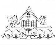 Coloriage École primaire maternelle