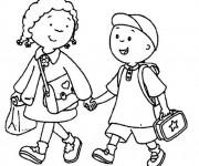 Coloriage et dessins gratuit École Rentrée à imprimer