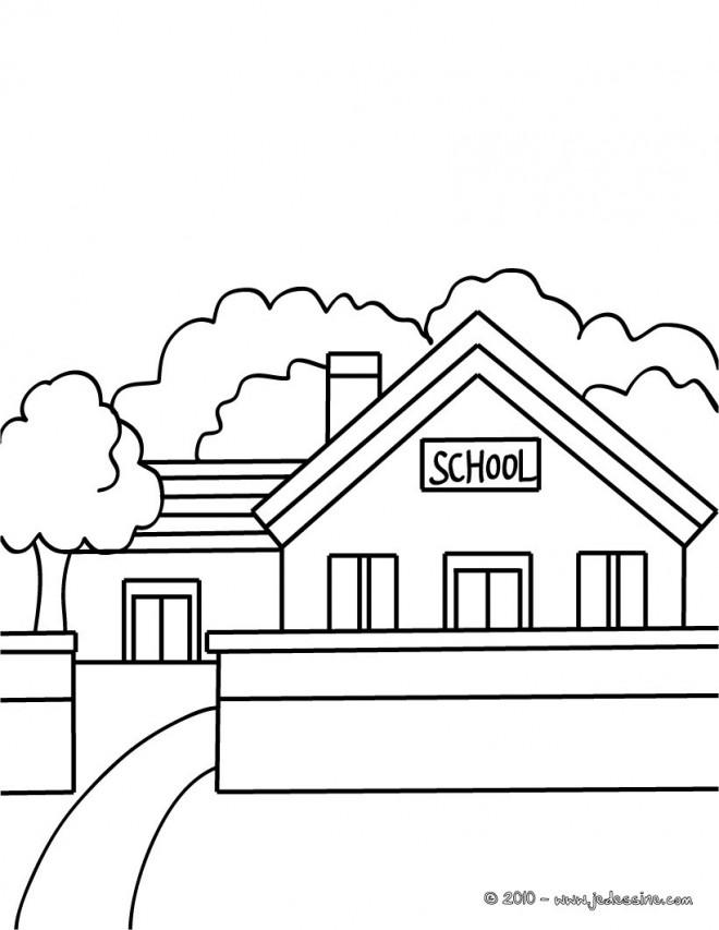 Coloriage et dessins gratuits École stylisé à imprimer