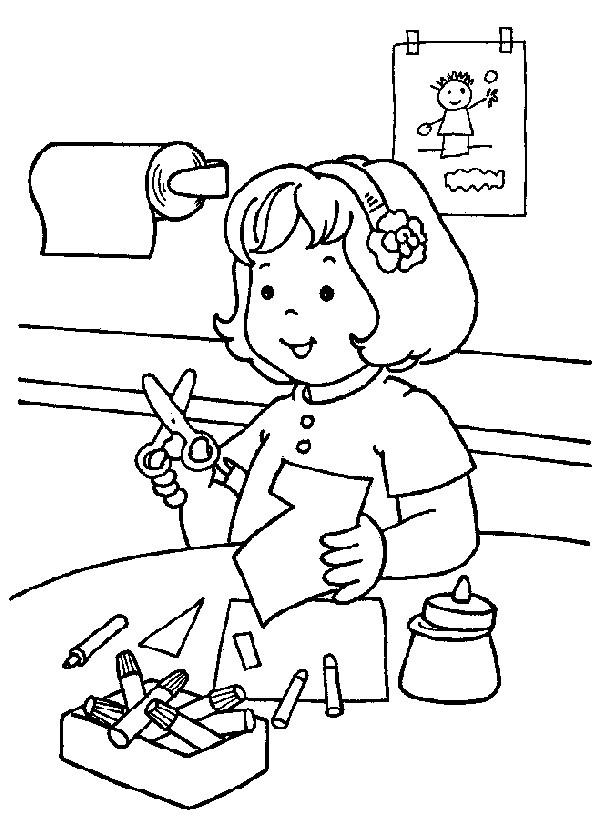 Coloriage et dessins gratuits L'élève et Les activités à L'École à imprimer