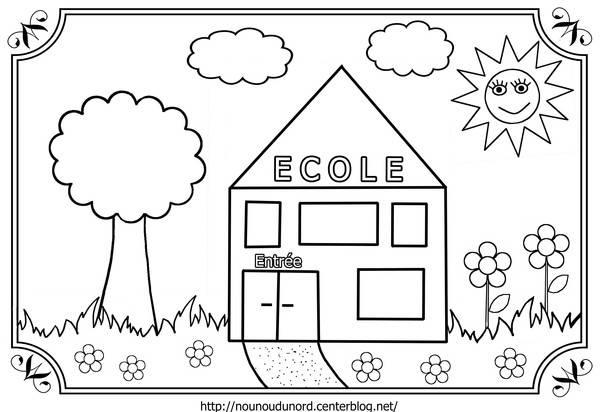 Coloriage et dessins gratuits la petite école pour enfant à imprimer