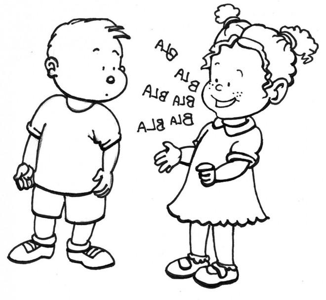 Coloriage et dessins gratuits Les Petits Enfants humoristique à imprimer